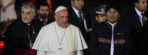 Evo Morales viajó al Vaticano para reunirse con el papa y asistir a un simposio. Foto: Tomada de www.eldiario.es
