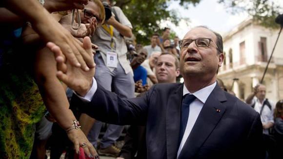 Hollande durante su visita a Cuba. Foto: AFP (Archivo)