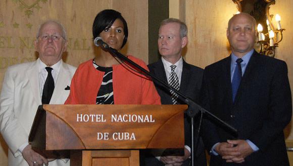 La presidenta de la Conferencia, y alcaldesa de Baltimore, Stephanie Rawlings- Blake, encabeza la visita a Cuba. Foto: Abel Rojas Barallobre/ Juventud Rebelde.