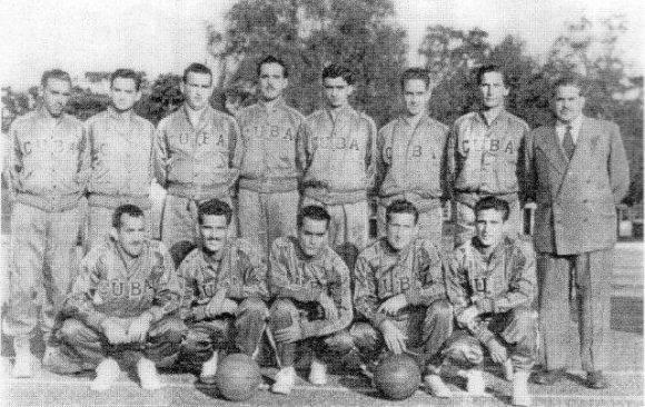 Equipo Cuba de baloncesto en Londres 1948