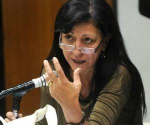 La diputada nacional del Frente Para la Victoria, Diana Conti. Foto: Cadena 3.