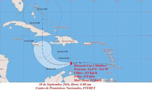 Matthew avanza por el sur de Cuba