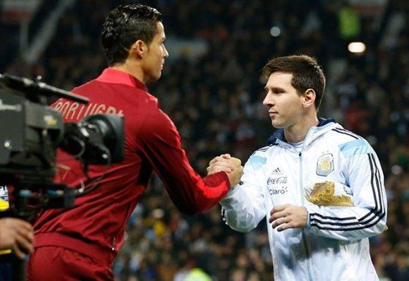 Cristiano dijo que tiene una relación de respeto con Messi, a diferencia de lo que difunden algunos medios. Foto: AP.