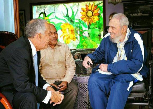 Fidel recibió al excelentísimo Sr. Marcelo Rebelo de Sousa, presidente de Portugal, 26 de octubre de 2016. Foto: Estudios Revolución