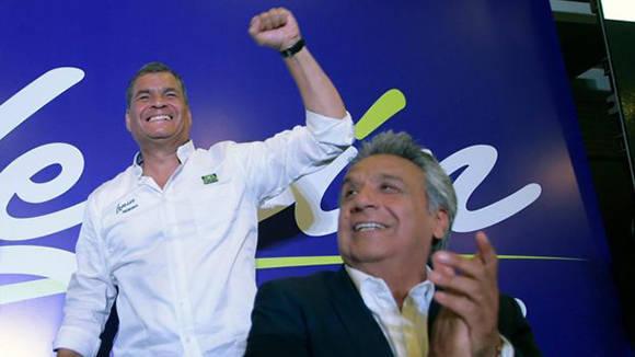 Resultado de imagen para Foto lenin Moreno y rafael Correa