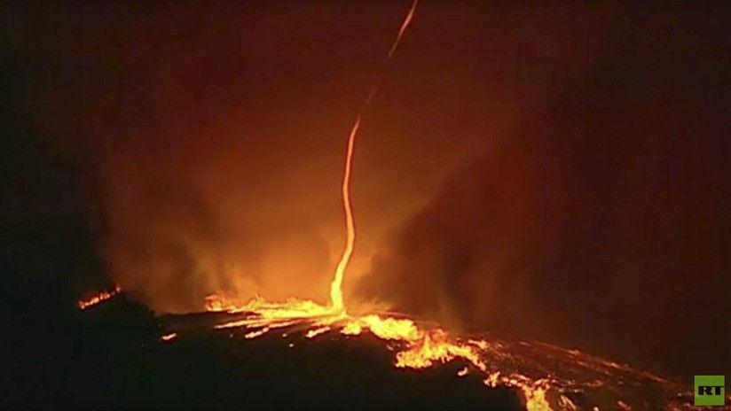 Raro fenmeno Registran tornado de fuego en Portugal
