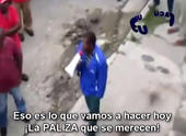"""Imagen del video de UNPACU donde se muestra a un sujeto arengando a otros a darle una """"paliza"""" a los opositores al régimen castrista"""