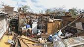 Derrumbe de viviendas en esta foto de archivo