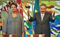 La presidenta de Brasil, Dilma Rousseff, y el gobernante de Cuba, Raúl Castro