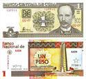 """Billetes de 1 en la moneda peso """"nacional"""" (CUP) y en la moneda peso """"convertible"""" (CUC)"""