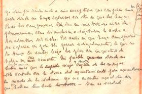 Manuscrito de Eliseo Diego