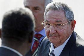 El gobernante cubano Raúl Castro en Chile