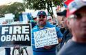 Protesta en Miami por el anuncio del inicio de trámites para el restablecimiento de relaciones diplomáticas entres Cuba y Estados Unidos