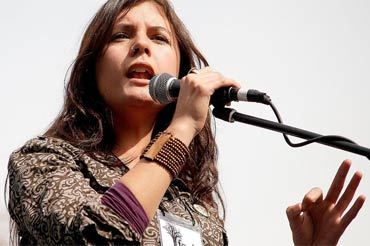 La líder estudiantil chilena Camila Vallejo
