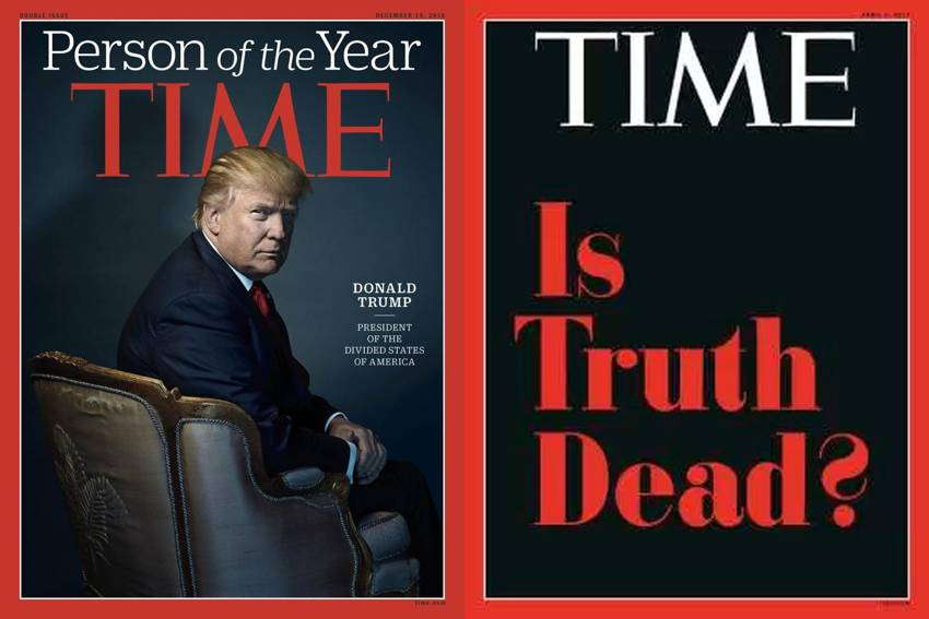 Trump una vez ms a la portada de la revista Time