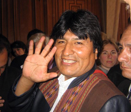 Evo Morales, foto Virgilio Ponce