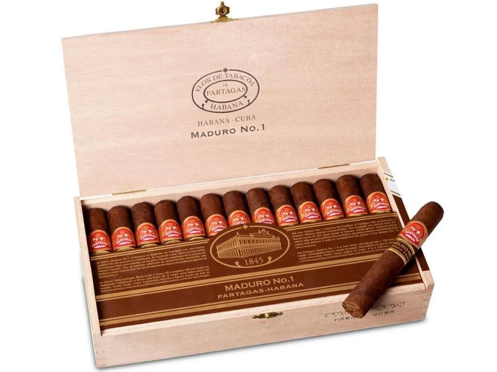 PARTAGAS MADURO NO1 LCDH Cabinet Cuban Cigars Online
