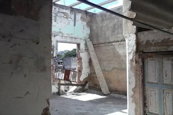 El cuarto deshabitado que iban a reparar y dejaron así