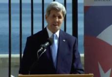 Kerry pronuncia su discurso durante la apertura de la embajada de EEUU en Cuba (foto de archivo)