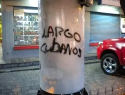 Graffiti en Quito (foto tomada de Internet)