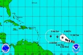 Posible trayectoria de depresión tropical (foto tomada de Internet)
