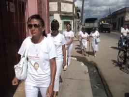 Dama de Blanco Leticia Ramos en primer plano (foto de archivo)