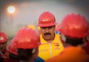 Maduro visitando instalaciones de PDVSA (foto tomada de Internet)