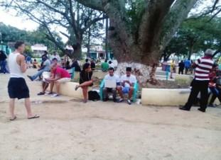 Punto wifi del parque Santa Amalia (foto del autor)