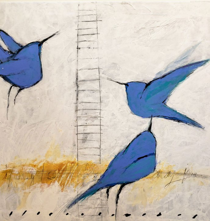 Blue Flight /  by Herson - Israeli Artist