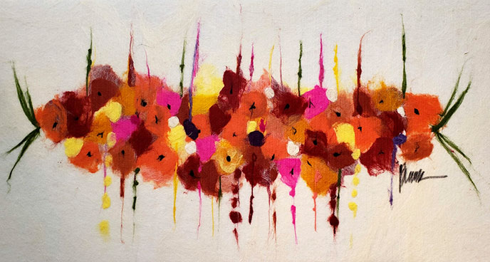Red Bouquet /  by Herson - Israeli Artist
