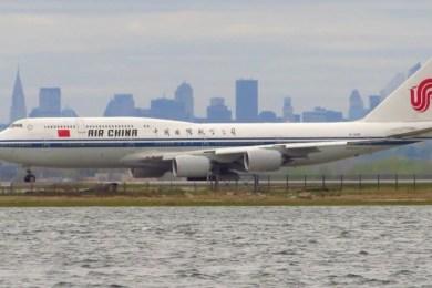 Estados Unidos aerolíneas chinas