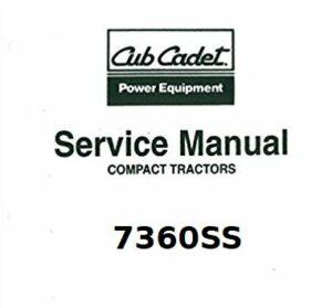 Cub Cadet 7360SS Compact Tractor Service Manual Download