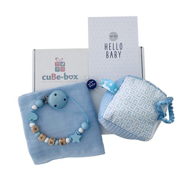 babybox jungen hellblau activitywuerfel kleinerprinz