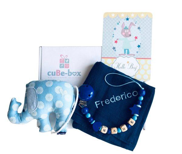 babybox elefantenrassel jungen dunkelblau