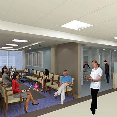 Boston Medical Center Preston 2 waiting room in Boston MA
