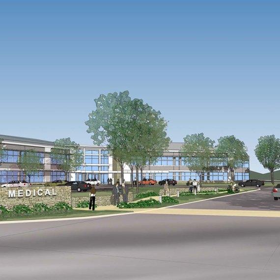 Pentucket Medical Center Vehicular Entrance in Amesbury MA