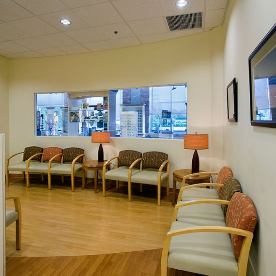 Tallman Eye Associates waiting room renovation in Lawrence MA