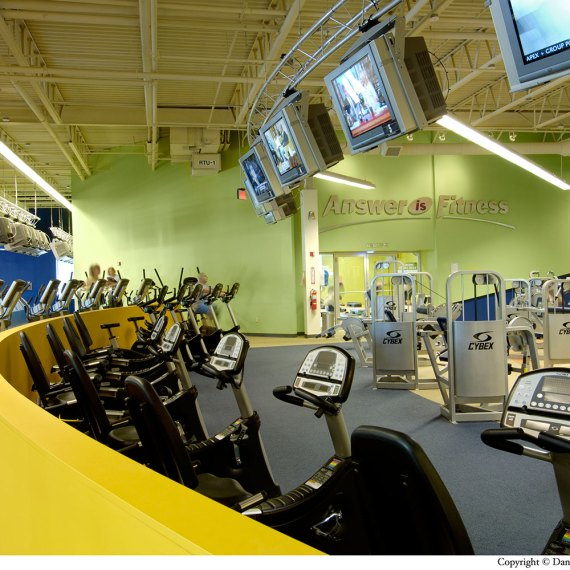 Answer is Fitness cardio area in North Attleborough MA