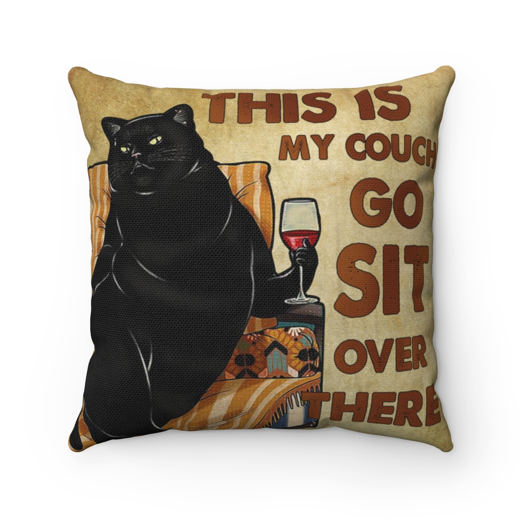 this is my couch go sit over there funny black cat throw pillow decorative pillow sofa home decor