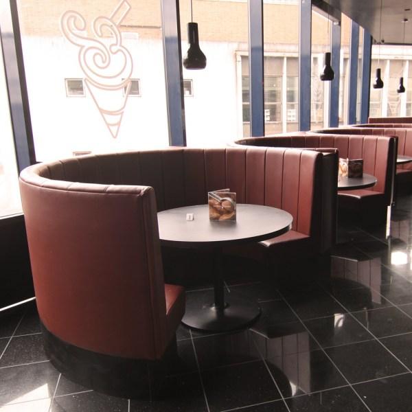 Restaurant Circular Booth Seating