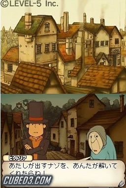 Professor Layton And The Curious Village Nintendo DS Screens And Art Gallery Cubed3