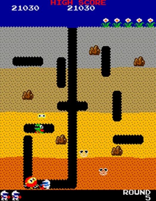Dig Dug Arcade Screens And Art Gallery Cubed3