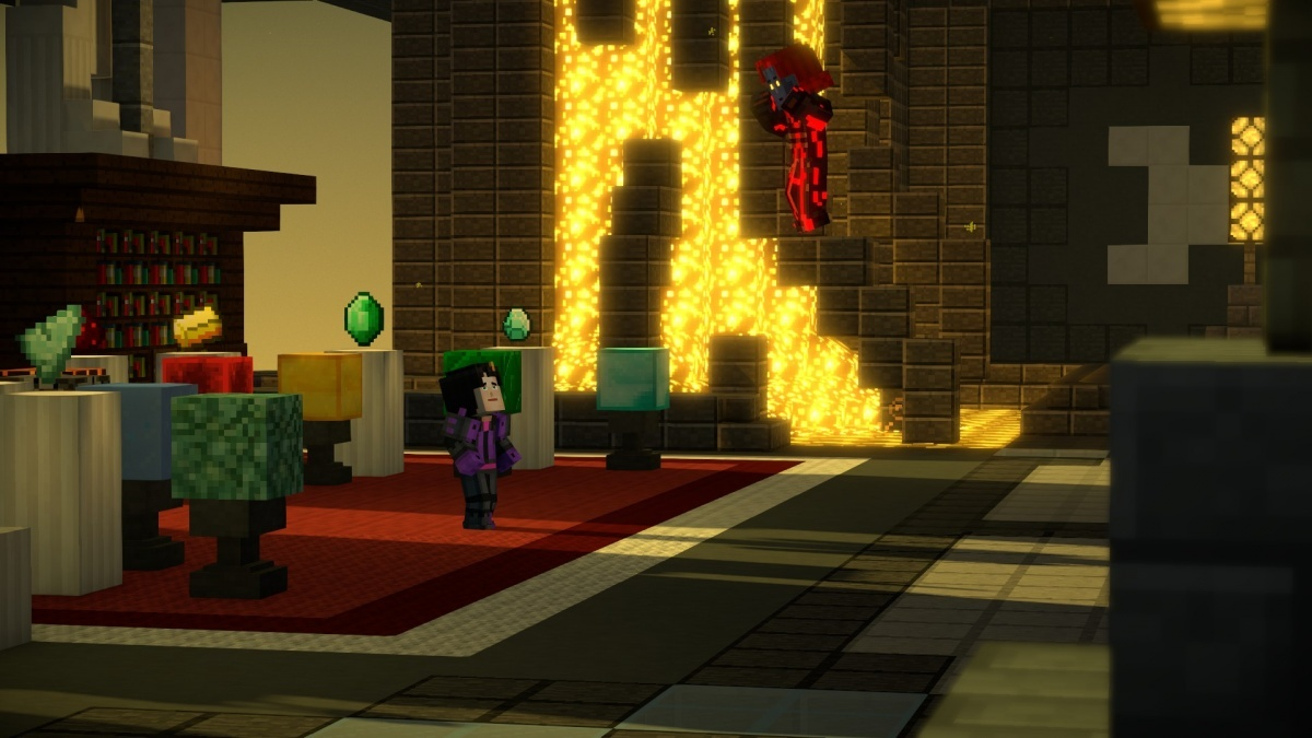 Minecraft Story Mode Season Two Episode 5 Above And Beyond PC Screens And Art Gallery Cubed3