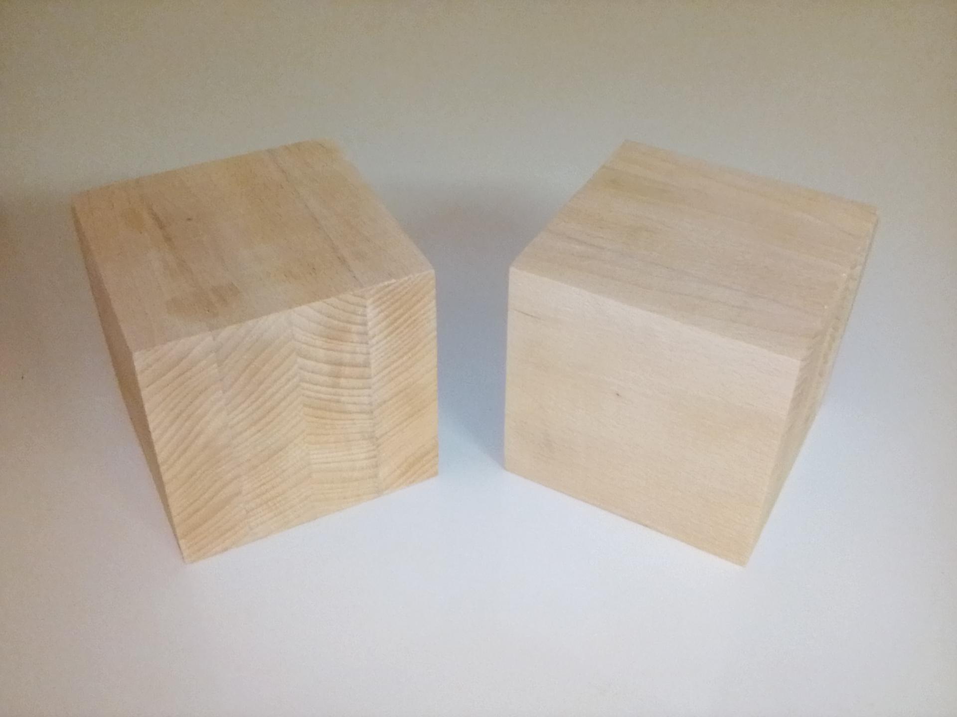 Cubes En Bois Contrecolle De 10 Cm