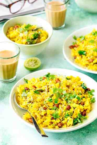 Poha Recipe - How To Make Poha Recipe - Cubes N Juliennes