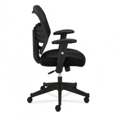 Hon Desk Chair Recliner Covers Walmart Basyx Vl531 Chairs Task Side View