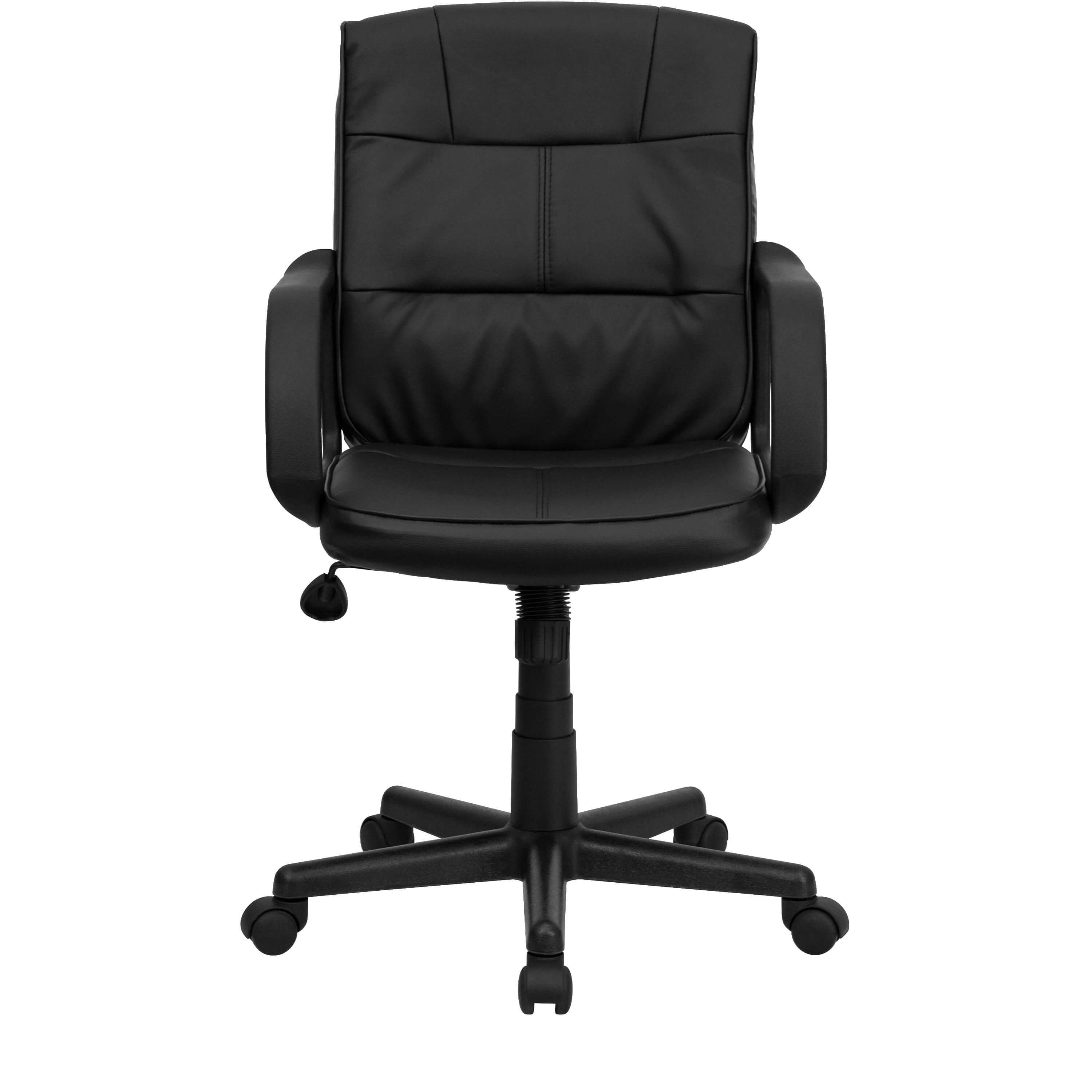 black leather desk chairs lifting elderly dorado office chair front view