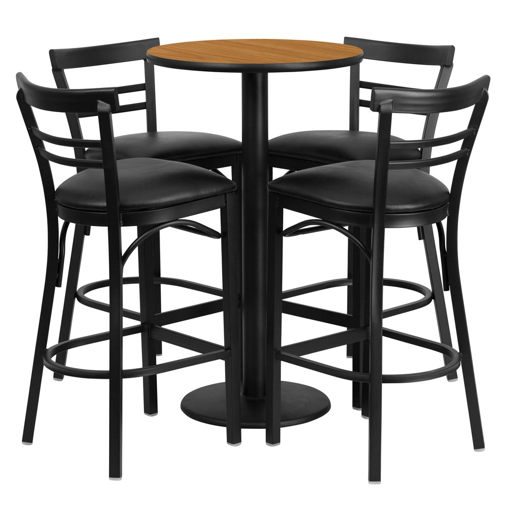 High Top Table Set Benedict 24inch Round Pub Table Sets