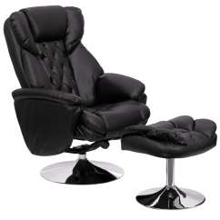 Modern Black Leather Recliner Chair Ergonomic Marina Square Puglia