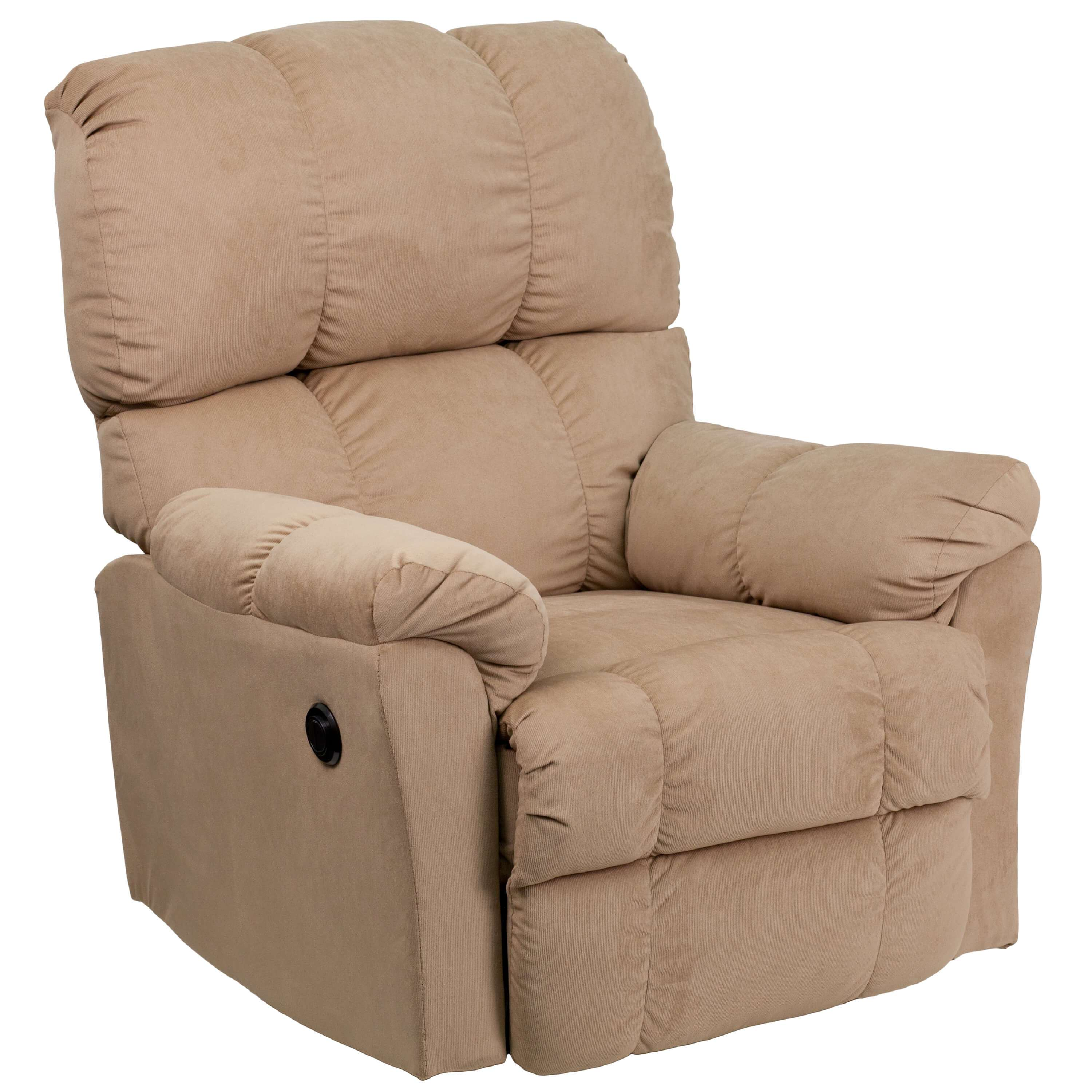 push button recliner chairs cheap bean bag chair snug microfiber